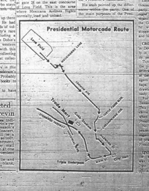Motorcade Change? on cape kennedy florida on map, texas sea level map, kennedy parade route dallas, jfk dallas texas map, kennedy assassination map,